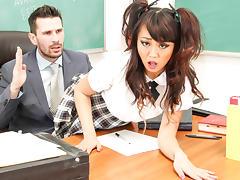Miko Dai, Manuel Ferrara in Corrupt Schoolgirls #10,  Scene #04