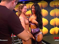 German bukkake competition attracts the kinkiest cum sluts