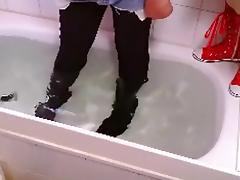 rubberboots sexy jeans