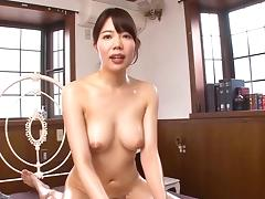 Asian bitch in red fishnet bodystockings gets drilled hardcore