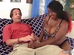 Ebony plumper Marie Leone hardcore sex