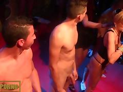 Porn casting on stage