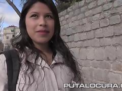 PUTA LOCURA Picking Up Busty Teen for cash