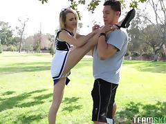 Cheerleader, Cheerleader, Couple, Flexible, Hardcore, Outdoor