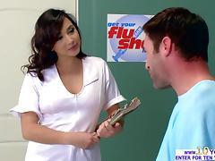 Clinic, Big Cock, Big Tits, Brunette, Hospital, Insertion
