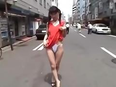 Asian amateur porn shows me walking on street in thong