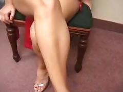 A pregnant woman gets fucked by two cocks