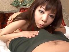 Hikaru Aoyama sucks cock in dirty POV style