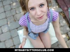 Petite Baby Sitter Caught Masturbating