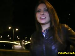 Euro beauty dicksucking and fucking in public