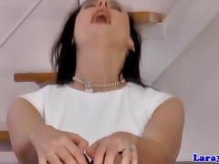 British stockings milf pussylicked in trio
