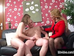 German bitches sharing a horny stud