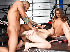 Nicoline, Sophie Lynx, Kid Jamaica in Rocco's World Asian Attack, Scene #04