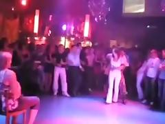 A male stripper dances for my friend in a club in hidden cam
