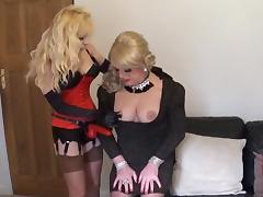 Slutty Angelique grilled by Madame C1