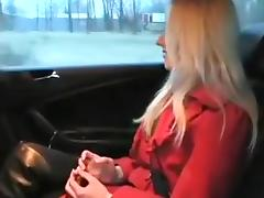 Gorgeous Blonde Creampied in Backseat