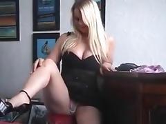 Piercing, Big Tits, Blonde, Masturbation, Piercing, Tease