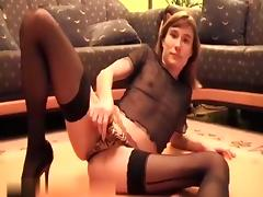 Chick in nylons anally rammed
