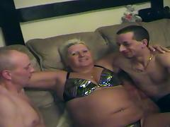 Fat swinging amateur granny