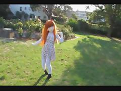 Kigurumi girl in the park :3