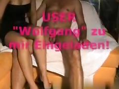 German swinger wife fucks a friend called 'wolfgang'
