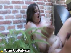 Horny mature group sex party