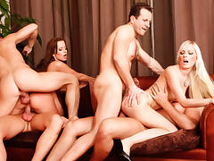 Cindy Dollar, Simone Style, Rachel Evans, Lena Cova in 5 Incredible Orgies, Scene #05