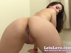 Lelu Love-POV Red Dress Striptease Virtual Sex