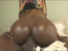 Black ghetto slut ass rides a bbc
