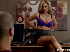 Fake tits milf demands a hardcore fuck in her office