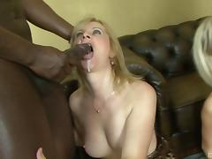 Fabulous interracial orgy with dirty sluts taking big cocks