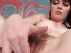 Marie McCray grows a bush and masturbates