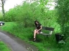Amateur Butt Fucked in the Park