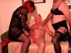 old man with crossdressers