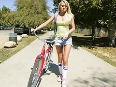 Teen, Blonde, College, Riding, Teen