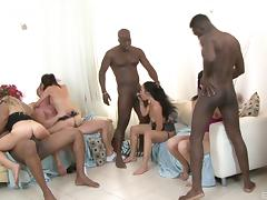 Black Orgy, Big Cock, Dirty, Group, Hardcore, HD