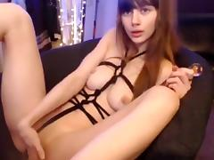 MissAlice_94: She fucks herself hard with a glass dildo