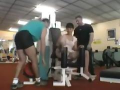 Nadine a la salle de gym