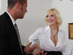 Office, Big Tits, Blonde, Blowjob, Boobs, Office
