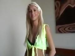 Gorgeous Blonde Pity Fucks Guy With Money