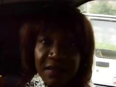 Crazy Ebony Mom fuckin in the car and outdoor