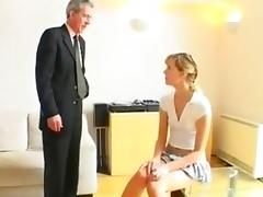 schoolgirl spanked by mr Old