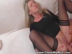 Check my MILD - Blonde suoer hottie wife in stockings sex