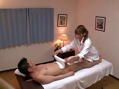 This Asian massage girl knows how to make her clients cum