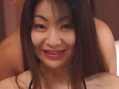 Dreamy girl from Asia enjoys having sex in various positions
