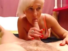 Blowjob, Blonde, Blowjob, Penis, Webcam, Sucking