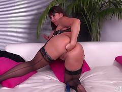 Anal milf fucks toys to get stretched and takes his dick