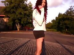 tranny stripping public daytime