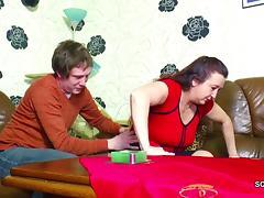 German StepMom Seduce to Fuck by stepson as dad is away