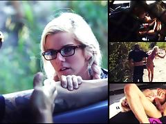 Halle Von Must Endure Domination, Outdoor Rough Sex & Bondage for a Ride - HelplessTeens